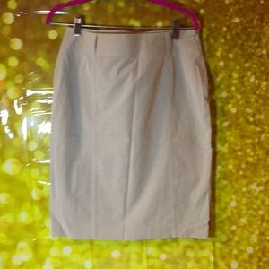 Knee length kaki skirt